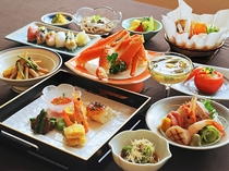 【ご夕食一例:よねしろプラン】自慢のお料理。旬の旨みを大切にした逸品をぜひご堪能ください。