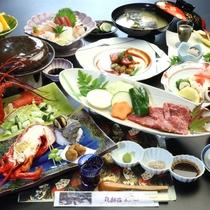 【夕食一例】伊勢海老と宮崎牛のプラン