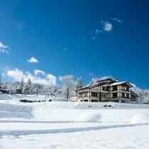 *【外観】冬は真っ白な銀世界が広がります。