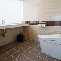 【トイレ】すっきりとした清潔感たっぷりのお手洗いです