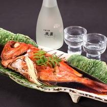*(別注)季節限定・金目鯛の煮付け おすすめの日本酒「東薫」とあわせていかがですか?