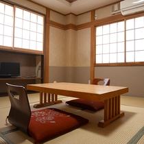 *和室8畳・汐彩/足を伸ばしてお寛ぎいただける心地よい和室。