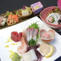 *料理一例/近海で取れた魚介のお刺身は鮮度抜群!
