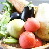 *料理一例/お野菜は地元産の新鮮なものを使用しています。