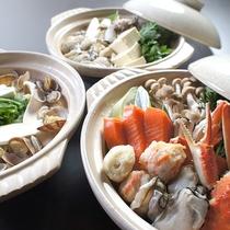 *料理(冬)/海の幸たっぷりの寄せ鍋は冬ならではのお楽しみ。
