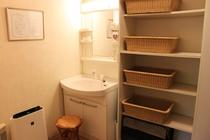 貸切天然温泉脱衣室