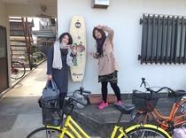 2日間自転車でのアート巡り!いいね。