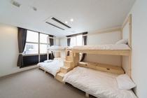 ゲストルーム・収納付き2段ベッド・4名利用