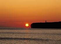 能取岬と夕日