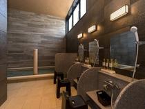 1階 人口温泉 準天然 光明石温泉◆女性浴場 洗い場◆