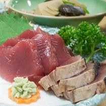 *【ご夕食一例】新鮮だからこそ味わえる魚介類