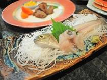 【夕食】和食コースの刺身
