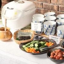 ◎【朝食バイキング】和食スタイルでご飯とお粥どちらが宜しいでしょうか?