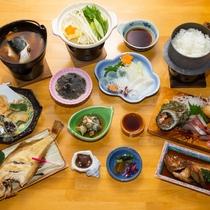 日本海で獲れた食材で、実(じつ)のあるお料理をお出しいたします。