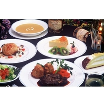 【コースディナー(例)】魚も肉も美味しく召し上がれる洋食フルコース*目でも味でもお腹でも楽める♪
