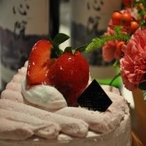 ピンクがかわぃぃハートのケーキ