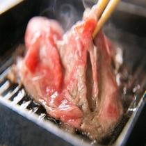 竹ごころ-takegokoro-の黒毛和牛の焼きしゃぶ