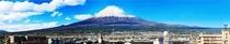 パノラマが美しい富士