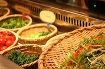 県産野菜を中心にしたサラダ