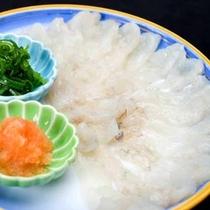 *【夕食一例】春まで楽しめるふぐ