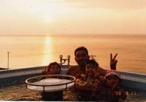 ジャグジーと夕陽