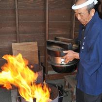 *ぬか釜炊きご飯/毎朝7時に炊き上げ、ご朝食にお出ししております!