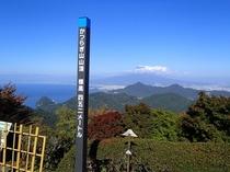 伊豆の国パノラマパーク 山頂から富士山と駿河湾を臨む