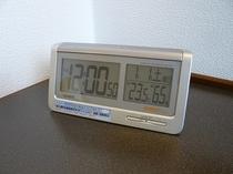 目覚まし電波時計(気温・湿度計付)