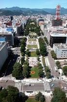 テレビ塔からの大通公園
