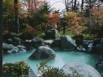露天風呂(秋)