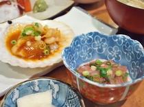 【夕食一例】八戸御膳 塩辛・貝焼き味噌