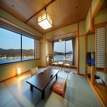 【 港側 和洋室(角部屋) 】 10畳+16㎡ツインルーム