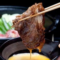 すき焼き(淡路産黒毛和牛・A3等級・肩ロースリブロース)