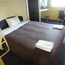 全室クィーンサイズの広々ベッド♪