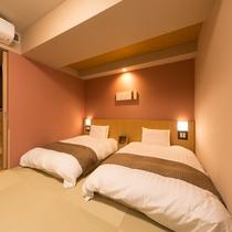 和風ツインルーム(22平米 ベッド幅:120×195センチ×2台)