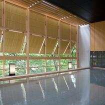 ■木造大浴場「渓谷の湯」健緑石風呂