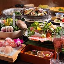■栃木産ブランド肉や新鮮野菜を使った結坐会席料理