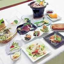 *【夕食一例】旬のごちそうを使った会席料理