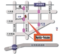 kyoto-house map