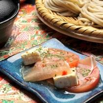 ☆料理_夕食_チーズ・生ハム・トマトのカルパッチョ (1)