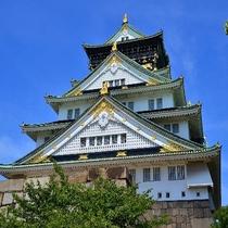 大阪城は存在感十分!!