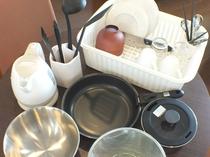 調理器具は全室備え付けとなっております。