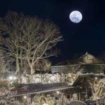 【景観】 月洸樹は、黒川温泉で最も美しい月を望む宿を…との想いで誕生しました