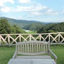 *みはらしカフェ/阿武隈の山並みを一望する特等席!この景色がなによりのご褒美♪