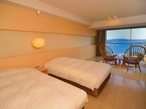 ナチュラル和洋室(6階)*客室によってベッド等の配置は異なります。