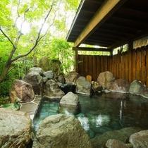 温泉|豊かな自然に包まれた野趣満点の露天風呂。