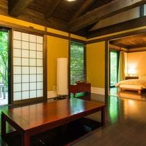 客室|【離れ】山の間/掘りごたつ付きのリビング。※会員様専用のお部屋です※