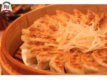 浜松餃子。ニンニクは入っておりませんので朝でも安心してお召上がり頂けます。