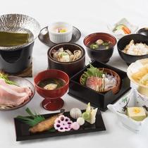 【2017春*薄墨御膳一例】河和田の地物をふんだんに使用した和食膳です