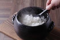 朝食の土鍋炊きご飯